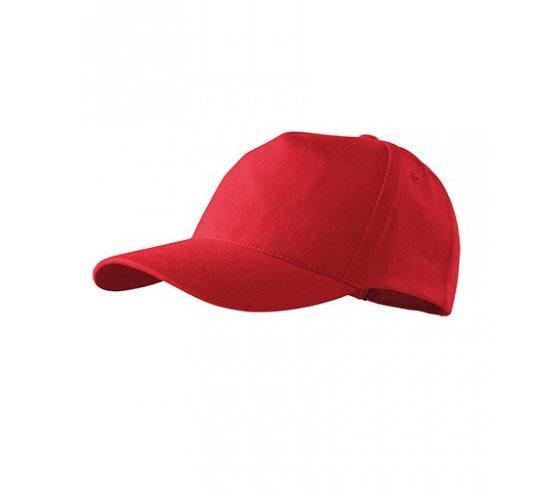5P Sapka unisex, állitható méret, piros szín