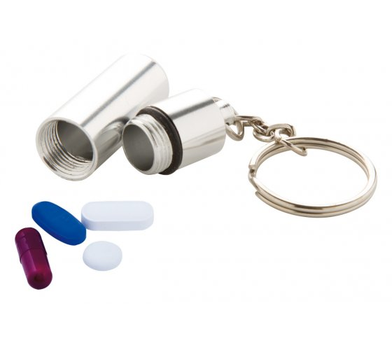 Alumpill kulcstartós gyógyszertároló