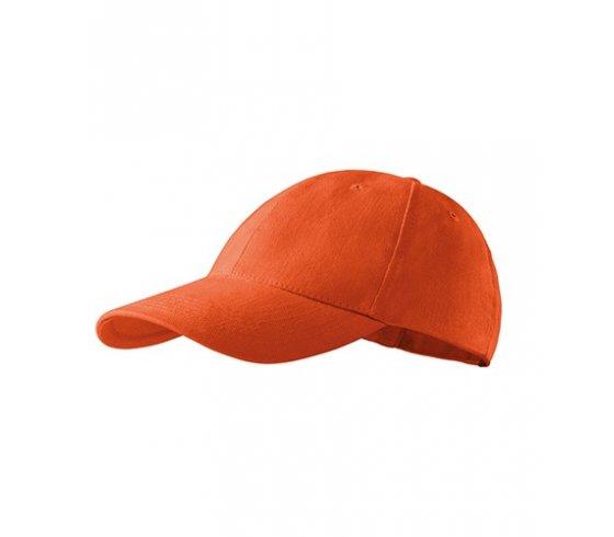 6P Sapka unisex, állitható méret, narancssárga szín