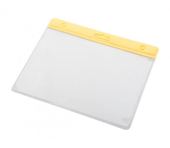 Alter névjegykártyatartó tok, sárga / átlátszó szín