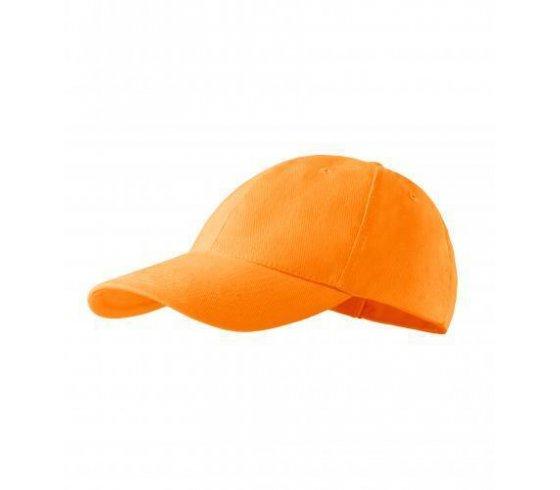 6P Sapka unisex, állitható méret, mandarinsárga szín